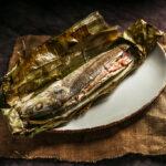 Pescado relleno con queso y jamon serrano